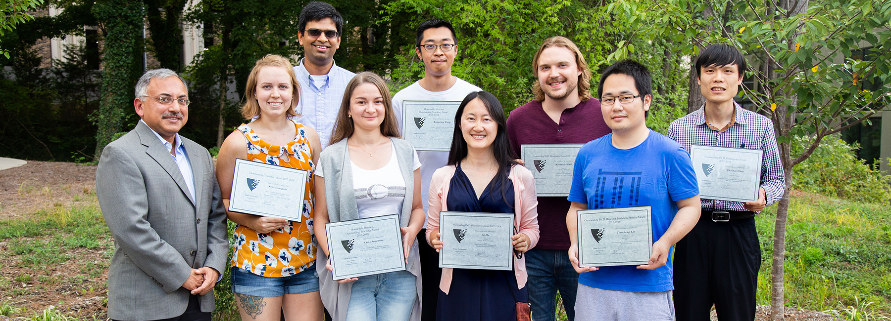 Recipients of grad student awards 2017-18