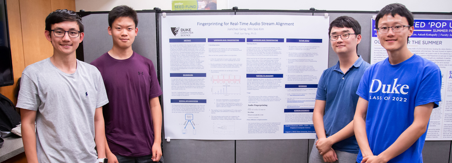 Ugrad Summer 2019 Research-Fingerprinting Project Poster-Student Team