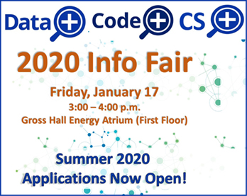 CS+, Data+, and Code+ Summer Programs Info Fair 2020