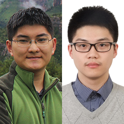 "Students Liang ""Charles"" Lyu and Yikai Wu - CRA undergrad research award winners 2021"