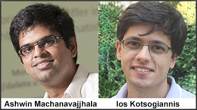 Ashwin Machanavajjhala and Ios Kotsogiannis